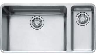 "Franke Kubus 33"" L x 17"" W Undermount Double Basin Kitchen Sink"