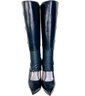 Versace \N Navy Leather Boots
