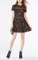 BCBGMAXAZRIA Eleanor Lace-Blocked Dress