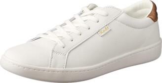 Keds Women's ACE Leather/Metallic Heel Sneaker