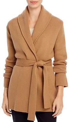 Donna Karan Shawl-Collar Wrap Cardigan