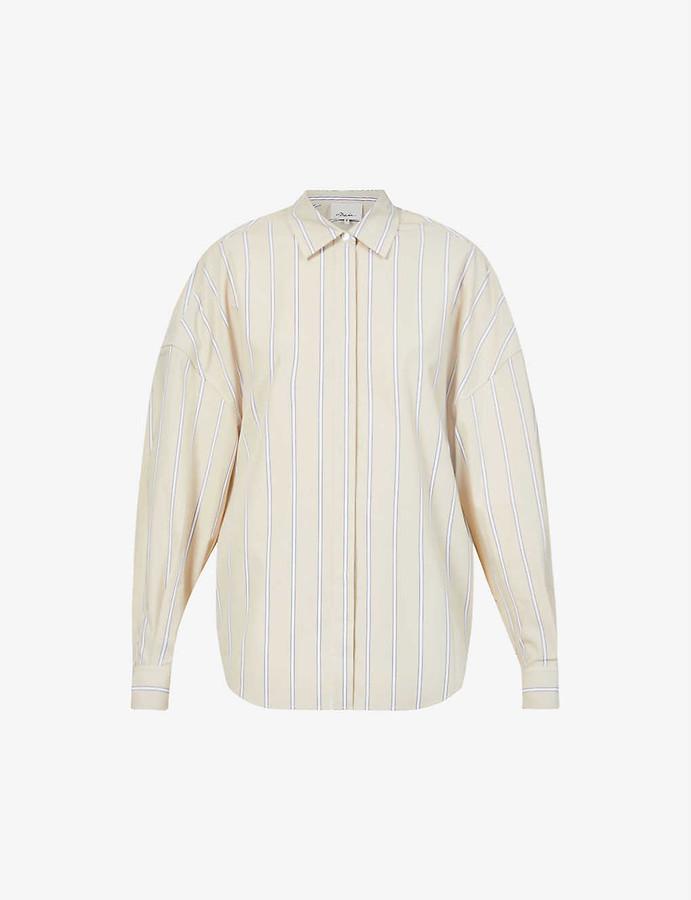 3.1 Phillip Lim Striped loose-fit cotton-poplin shirt