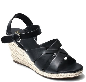 Nicole Miller Bianca Criss Cross Strap Espadrille Sandal