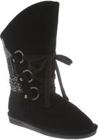 BearPaw Black Patchwork Faith Boot - Women