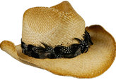 Spotted Feather Straw Cowboy Hat