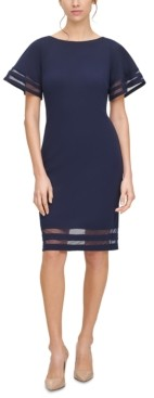 Jessica Howard Illusion-Band Sheath Dress