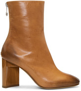 Maison Margiela Brown Asymmetric Heel Boots
