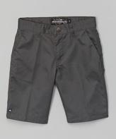 Micros Charcoal Clifford Flat Front Walk Shorts - Toddler & Boys