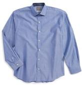 Thomas Dean Boy's Dobby Dress Shirt