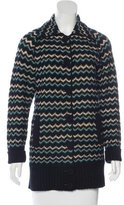 M Missoni Virgin Wool Chevron Coat