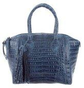 Nancy Gonzalez Small Crocodile Dome Bowler Bag