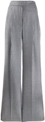 Alexander McQueen High Waisted Check Trousers