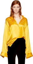 Haider Ackermann Yellow Classic Silk Shirt