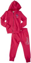 Diesel 2 Pc Zip Hoodie And Sweatpant (Kids) - Raspberry-6