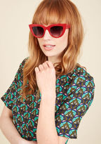 Worth Its Weight in Bold Sunglasses in Cherry