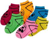 Asstd National Brand Emoji 6-pk. Crayon Socks