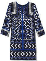 Vince Camuto Tribal-Print Shift Dress