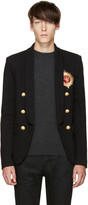 Balmain Black Embroidered Blazer