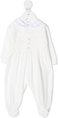 Siola Embroidered Long-Sleeve Babygrow