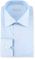 Stefano Ricci Striped Dress Shirt, Blue