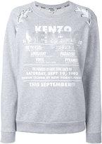 Kenzo lace shoulder sweatshirt - women - Cotton/Polyester/Triacetate - S