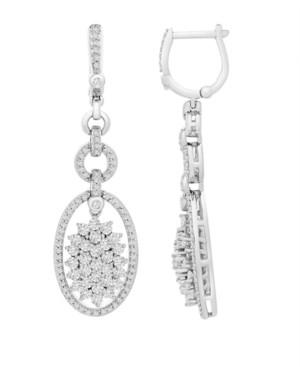 Wrapped in Love Diamond (2 ct. t.w.) Link Drop Earrings in 14K White Gold
