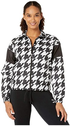 Puma Trend All Over Print Woven Jacket (Black Houndstooth) Women's Coat