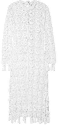 Chloé Fringed Crocheted Cotton-blend Maxi Dress - Ivory