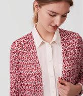 LOFT Magnolia Fine Knit Open Cardigan