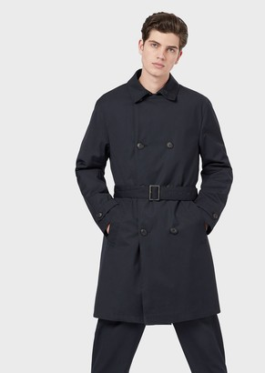Emporio Armani Double-Breasted Trench Coat With Belt