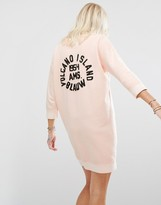 Maison Scotch Pink Sweatshirt Dress