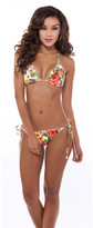 Nicolita Swimwear - Neon Bloom Side Tie Bikini Bottom