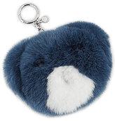 MICHAEL Michael Kors Teddy Bear Fur Pom Pom Key Chain