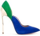 Casadei colour block pumps - women - Chamois Leather/Leather/Kid Leather - 35