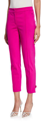 Escada Crepe D-Ring Cuffed Cropped Pants