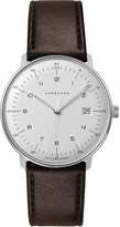 Junghans 041/4461.00 Max Bill stainless steel and leather quartz watch
