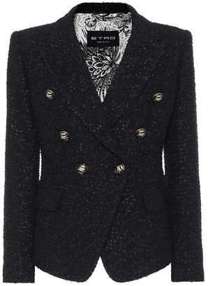 Etro Cotton-blend boucle blazer