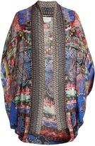 Camilla Pretty Precession-print silk cape