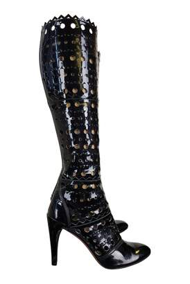 Alaia Black Patent leather Boots