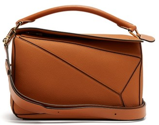 Loewe Puzzle Medium Grained-leather Cross-body Bag - Womens - Tan