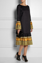 Suno Cotton and silk-blend dress