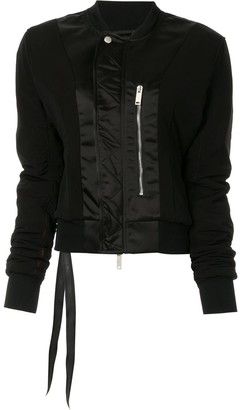 Unravel Project Zip-Front Bomber Jacket