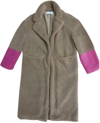 MANGO Camel Coat for Women