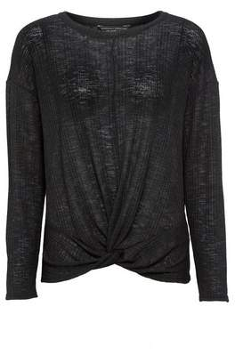 Dorothy Perkins Womens Black Twist Front Jumper, Black
