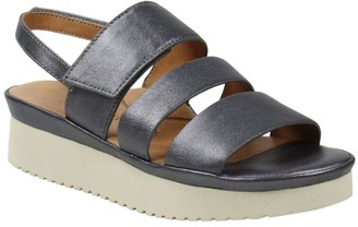 L'Amour des Pieds Leather Flatform Sandals - Amelcia