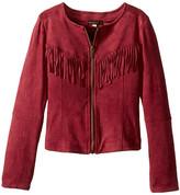 Ella Moss Cali Suede Fringe Jacket (Big Kids)