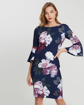 Montique Greta Printed Shift Dress