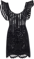 David Koma Ruffled Flock Dress