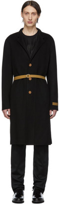 Helmut Lang Black Double Lapel Coat