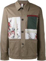 Antonio Marras patchwork detail shirt jacket - men - Cotton/Spandex/Elastane - 48
